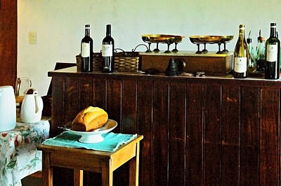 Still Life Photograph - Bread And Wine by Norman Johnson