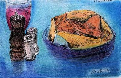 Painting - Bread And Wine by William Killen