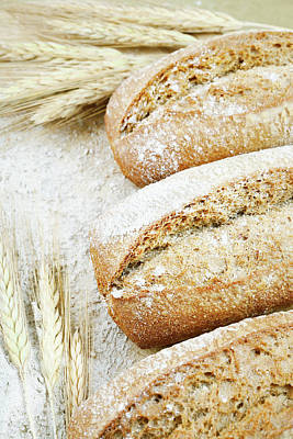 Close Up Photograph - Bread by Cactusoup
