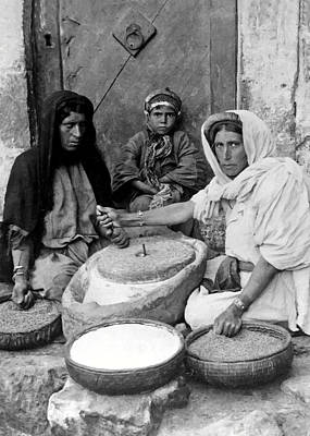 Photograph - Bread Making by Munir Alawi