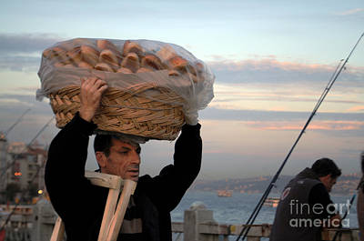 Photograph - Bread Seller Candid Shot by Haleh Mahbod