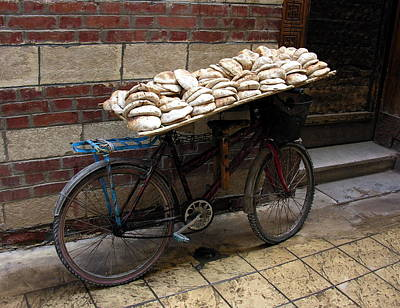 Art Print featuring the photograph Bread To Go In Cairo by Jacqueline M Lewis