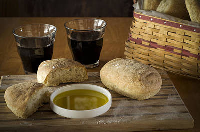 Photograph - Bread Wine And Basket by Wayne Meyer