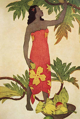 Painting - Breadfruit Girl by Hawaiian Legacy Archives - Printscapes