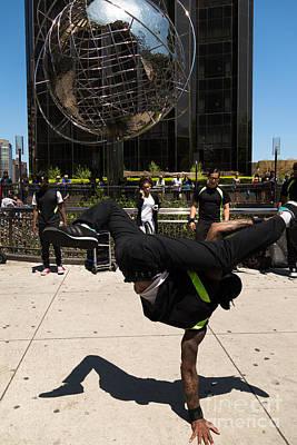 Break Dancer  Columbus Circle Art Print by Amy Cicconi