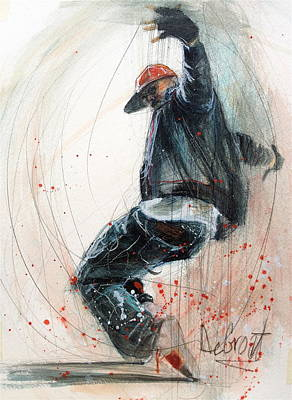 Break Dancer2 Art Print