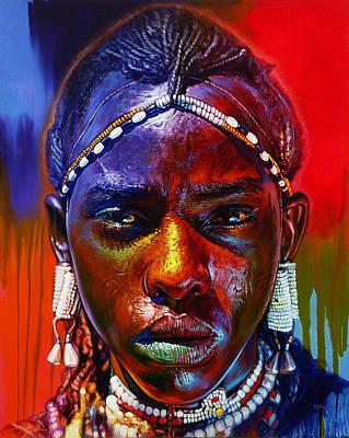 Ear Rings Painting - Break From Dancing by Stephen Bennett