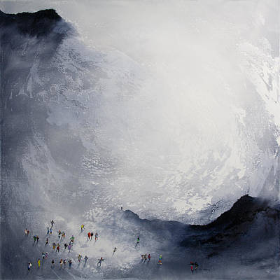 Forecast Painting - Break In The Weather Original Painting By Neil Mcbride by Neil McBride
