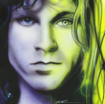 Kurt Cobain Painting - Jim Morrison - ' Break On Through To Lithium ' by Christian Chapman Art