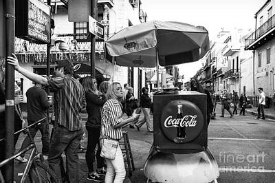 Photograph - Break Time On Bourbon Street Mono by John Rizzuto