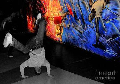 Breakdance Uk  Art Print by Rob Hawkins