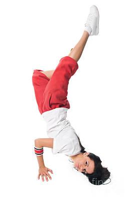 Nirvana - Breakdancing girl doing handstand by Nikita Buida