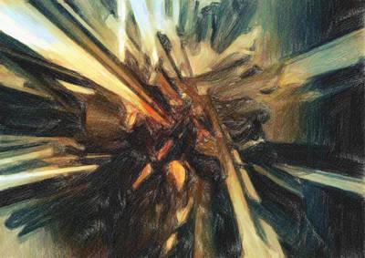 Broken Pieces Painting - Breakdown by Taylan Apukovska