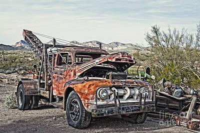 Photograph - Breakdown Truck Break Down by Lee Craig