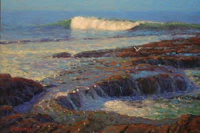 Nz.impressionist Painting - Breaker by Terry Perham