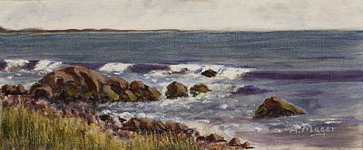 Painting - Breakers by Alan Mager