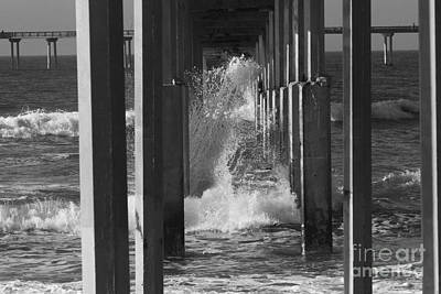 Photograph - Breakers And Pier by Edward R Wisell