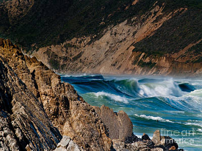 Breakers At Pt Reyes Art Print by Bill Gallagher