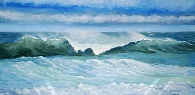 Painting - Breakers by Keith Wilkie