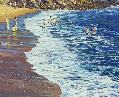 Natural Beauty Painting - Breakers by Martin Decent