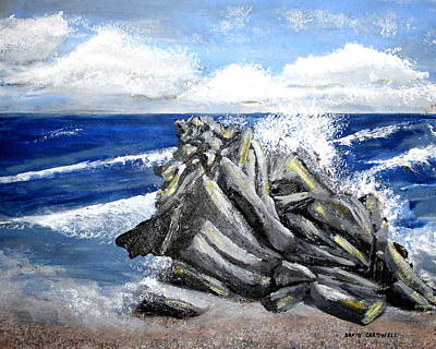 Sullivans Island Sc Painting - Breakers On Sullivans Island by David Cardwell