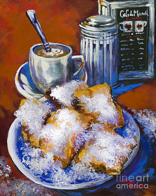 Breakfast At Cafe Du Monde Print by Dianne Parks