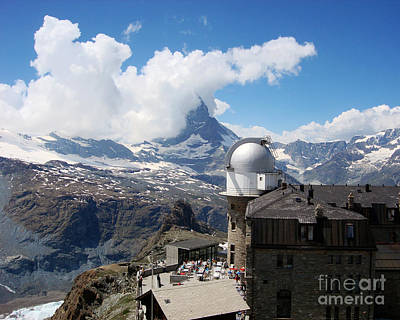 Breakfast At Gornergrat Art Print by Juan Romagosa