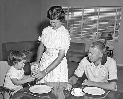 Breakfast At Home Art Print by Underwood Archives