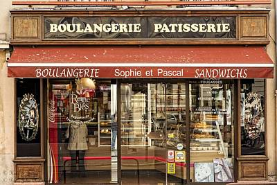 Boulangerie Photograph - Breakfast At Sophie Et Pascal's  by Hany J