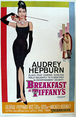 Audrey Hepburn Digital Art - Breakfast At Tiffany's by Cool Canvas