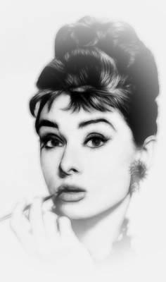 Audrey Hepburn Drawing - Breakfast At Tiffanys by Steve K