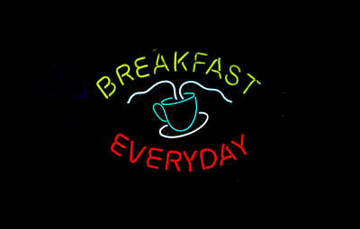 Photograph - Breakfast Everyday by E Faithe Lester