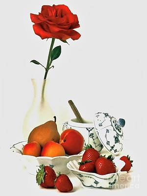 Breakfast For Lovers Art Print by Elf Evans