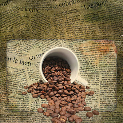 Reading Mixed Media - Breakfast by Heike Hultsch