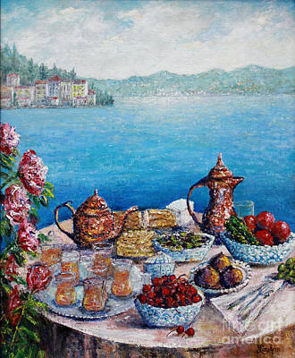 Breakfast In Istanbul Art Print by Lou Ann Bagnall