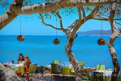 Breakfast In Paradise - Villa Amor Art Print by Amy Fearn