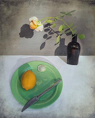 Fruit Tree Art Painting - Breakfast Menu In Yellow And Green by Frida Kaas