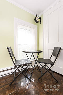 Folding Chair Photograph - Breakfast Nook In Rustic House by Elena Elisseeva