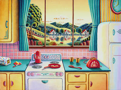 Chef Painting - Breakfast Of Champions by Andy Russell