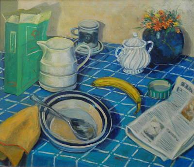 Breakfast Stilllife Art Print by Bonnie Wilber