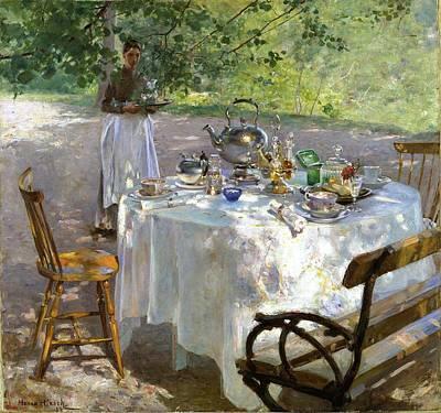 Tea Painting - Breakfast Time by Hanna Pauli