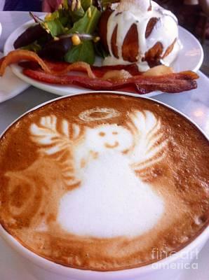 Photograph - Breakfast With An Angel Latte  by Susan Garren