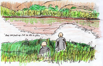 Nature Abstract Drawing - Breaking Bad-lake-abstract by Willhemus Ardylles