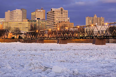 Thawing Time Photograph - Breaking Ice At Harrisburg by Delmas Lehman