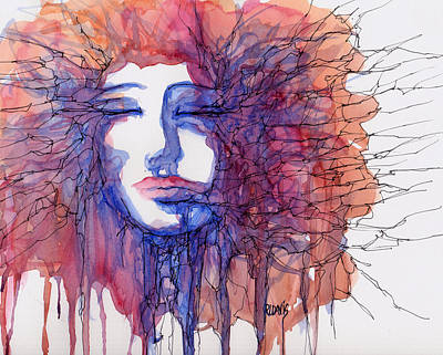 Art Print featuring the painting Breaking Out Loud by Rebecca Davis