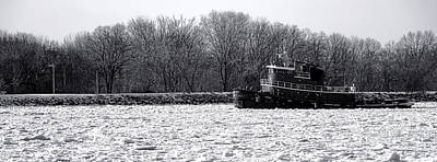 Tugboat Wall Art - Photograph - Breaking The Ice by Olivier Le Queinec