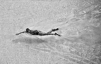 Swimmers Photograph - Breaking The Net by C.s. Tjandra