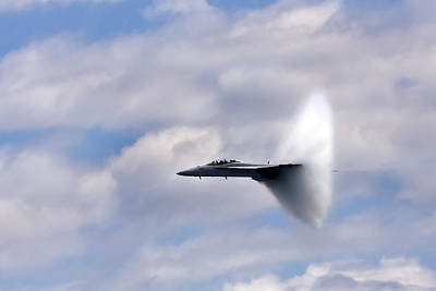 Aircraft Photograph - Breaking Through by Adam Romanowicz