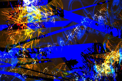 Art Print featuring the digital art Breaking Through by Lena Wilhite