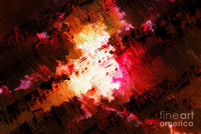 Art Print featuring the digital art Breaking Through by Lon Chaffin